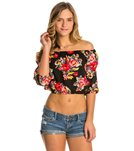 MINKPINK Dark Blooms Off Shoulder Top