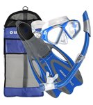 U.S. Divers Cozumel Mask / Seabreeze Snorkel / Proflex Fins / Gear Bag Set