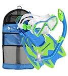 U.S. Divers Regal Jr. Mask / Laguna Snorkel / Trigger Fins / Gear Bag
