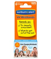 Sunburn Alert UVA/UVB Monitoring Wristbands (6 Pack)