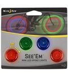 Nite Ize See'Ems LED Mini Spoke Wheel Light (4-Pack)