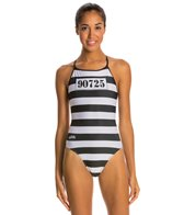 Splish Prison Break Thin Strap One Piece Swimsuit