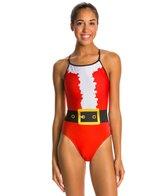 Splish Santa Thin Strap One Piece Swimsuit