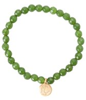 Satya Jewelry Jade w/ Golden Om Beaded Bracelet