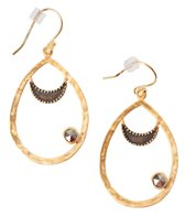 Satya Jewelry Pyrite Moon Earring
