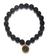Satya Jewelry Matte Black Onyx w/ Sun Beaded Bracelet