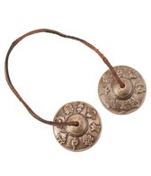 Sacred Space Med Intricate Auspicious Symbol Tibet Gong Tingsha Cymbals