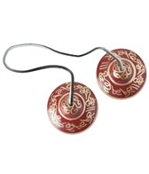 Sacred Space Lg Red Etched Tibetan Gong Tingsha Cymbals
