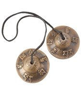 Sacred Space Small Unique Om Mani Padme Hum Tibetan Gong Tingsha Cymbals