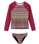 Billabong Girls' Sahara Sunset Rash Guard Set (4yrs-14yrs)
