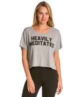 YogaRX Heavily Meditated Crop Tee