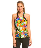 Trina Turk Mesh Back Yoga Tank Top