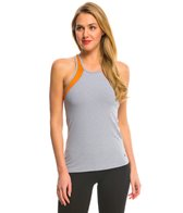 Trina Turk Heathered Mesh Back Yoga Tank Top