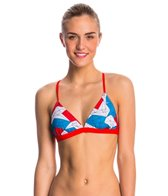 Speedo Water Supply and Stars Printed Tie Back Triangle Top