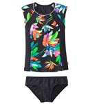 Seafolly Girls' Tropical Fever S/S Rashguard Surf Set (6yrs-14yrs)