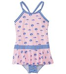 Seafolly Girls' Riviera Umbrella Ruffle Skirt One Piece Swimsuit (6mos-7yrs)