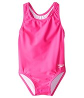 Speedo Girls' Solid Racerback One Piece with Snap Bottom (12mos-3yrs)