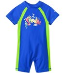 Speedo Boys' Short Sleeve Sun Suit UPF 50+ (12mos-3T)