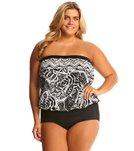 Maxine Plus Size Tribal Beat Bandeau Blouson Mio One Piece Swimsuit