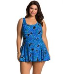 Maxine Plus Size Casa Blanca Princess Seam Swimdress