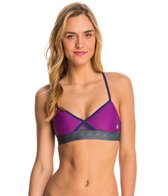 Roxy Women's Carribean Sunset Criss Cross Sports Bra Bikini Top