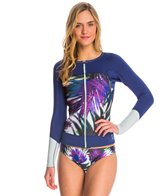 Roxy Women's Carribean Sunset Neoprene Front Zip Long Sleeve Jacket
