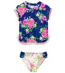 Hula Star Girls' Romance Rashguard Two Piece Set (2yrs-6yrs)