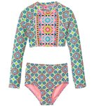 Gossip Girls' Star Crossed L/S Rashguard Set (7yrs-16yrs)