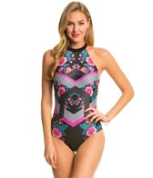 MINKPINK Beach Blossom Strappy Back One Piece Swimsuit