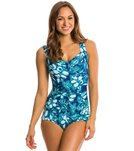 Maxine Florida Keys Shirred Front Girl Leg One Piece Swimsuit