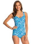 Maxine Atlantis Falls Shirred Front Girl Leg One Piece Swimsuit