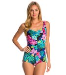 Maxine Lanikai Shirred Front Girl Leg One Piece Swimsuit