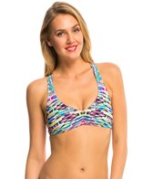 Kenneth Cole Reaction Hot to Trot Tribal Cross Back Halter Bikini Top