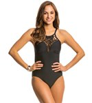 Athena Swimwear Cabana Solids High Neck One Piece Swimsuit