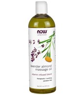 NOW Sweet Almond-Lavender Massage Oil 16 oz
