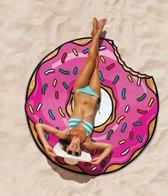 Pink Donut Beach Blanket