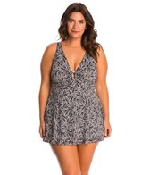 Fit4U Swimwear Plus Size Twisted V Neck Swim Dress