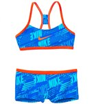Nike Swimwear Girls' Nike Print Racerback Two Piece Swimsuit (7yrs-14yrs)