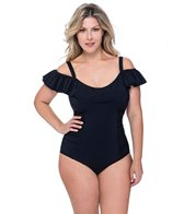 Profile by Gottex Plus Size Tutti Frutti Bandeau Swim Dress