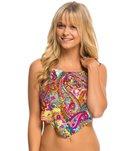 Hobie Peace, Love, and Paisley Scarf Halter Tankini Bikini Top
