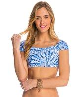 Sofia La Jolla Blue Drape Crop Bikini Top
