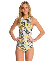 Billabong Totally 80's Rashguard One Piece Swimsuit