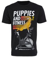Puppies Make Me Happy Men's Puppies & Fitness Tee