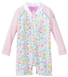 Platypus Girls' UPF 50+ Bloom L/S Baby Sunsuit (6-24 months)