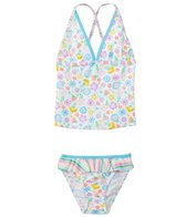 Platypus Girls' UPF 50+ Bloom Tankini Set (18mos-8yrs)