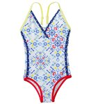 Platypus Girls' UPF 50+ Kaleidoscope Race Swimsuit (18mos-8yrs)