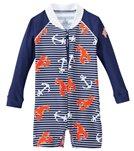 Platypus Boys' UPF 50+ Lobster Catch L/S Baby Sunsuit (6-24 months)