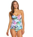 Sunsets Enchanted Garden Underwire Bandeau Tankini Top (D/DD Cup)