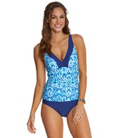 Maxine Atlantis Falls Shirred Side One Piece Swimsuit