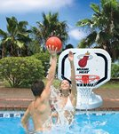 Poolmaster Miami Heat NBA Competition Style Poolside Basketball Game
